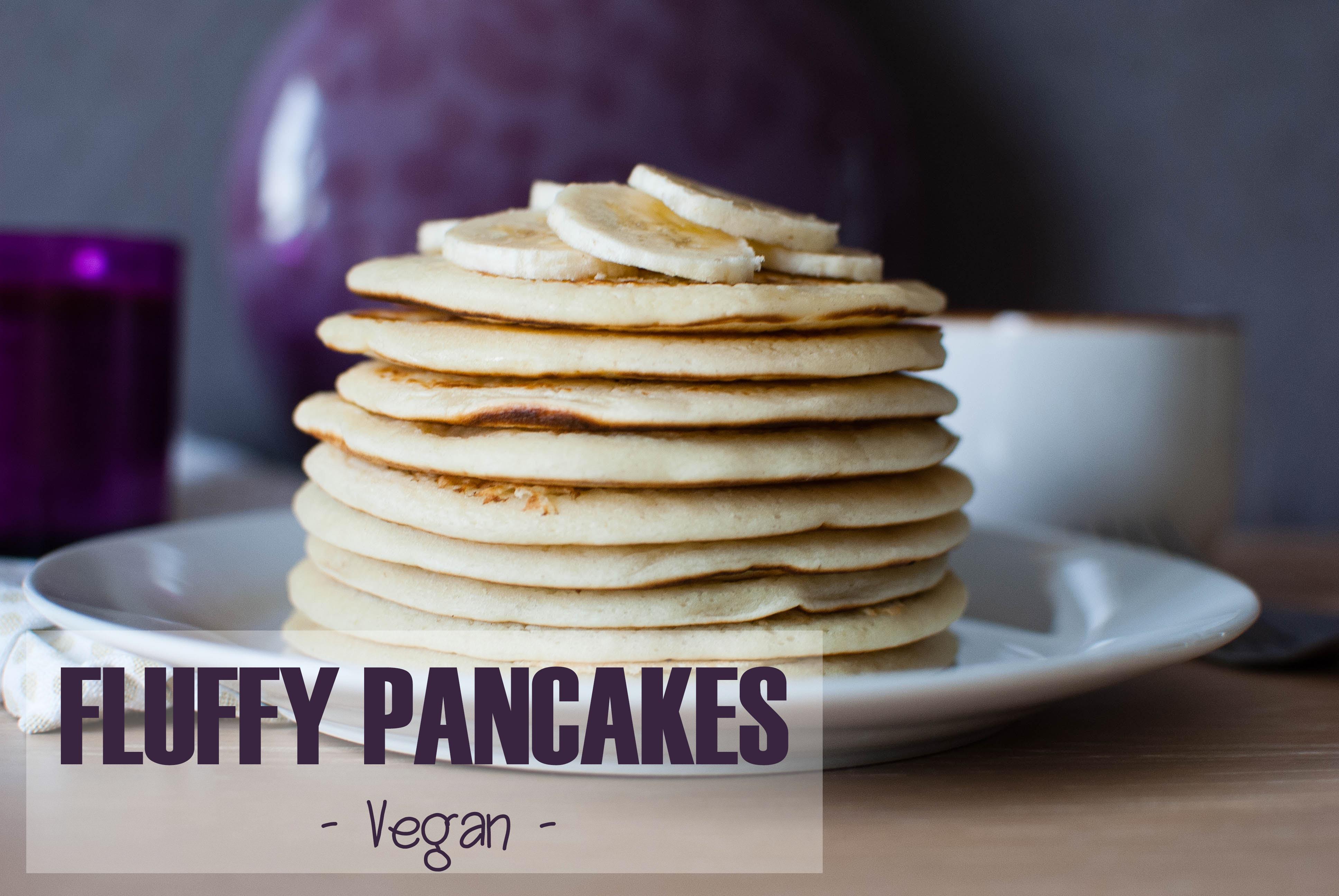 fluffy pancakes vegan breakfast petit-déjeuner recette food le petit monde d'elodie brunch