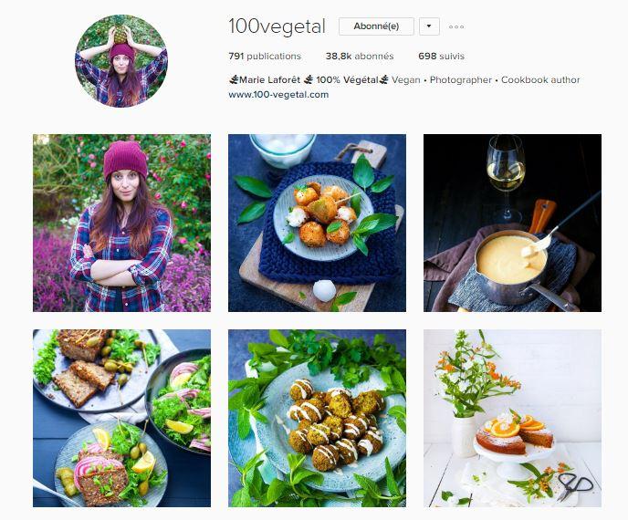 healthy food instagram le petit monde d'elodie compte marie laforet 100% vegetal