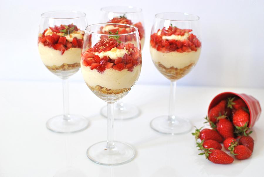 Recette food healthy le petit monde d'elodie tiramisu aux fraises a la bretonne