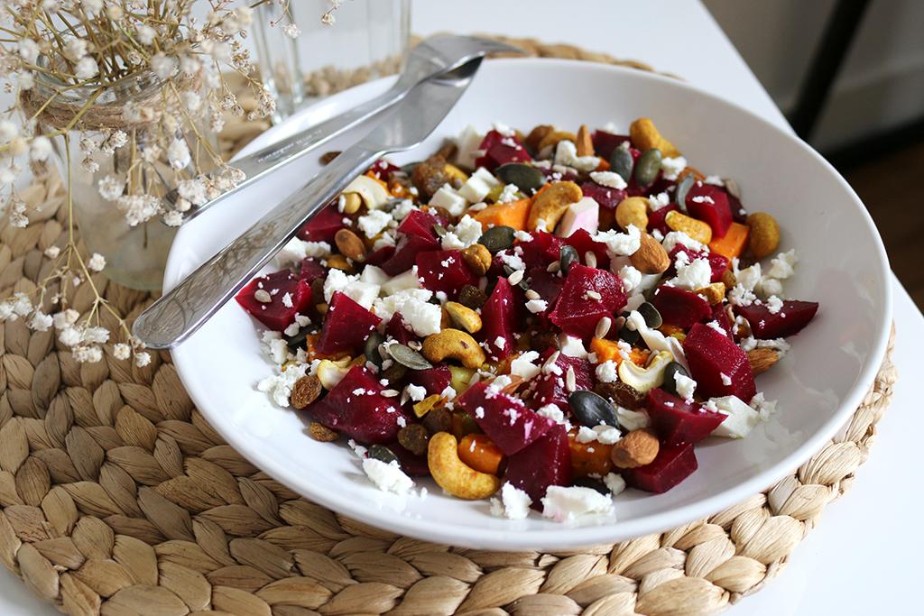 salade végétarienne colorée et croquante par le petit monde d'elodie, blog healthy food