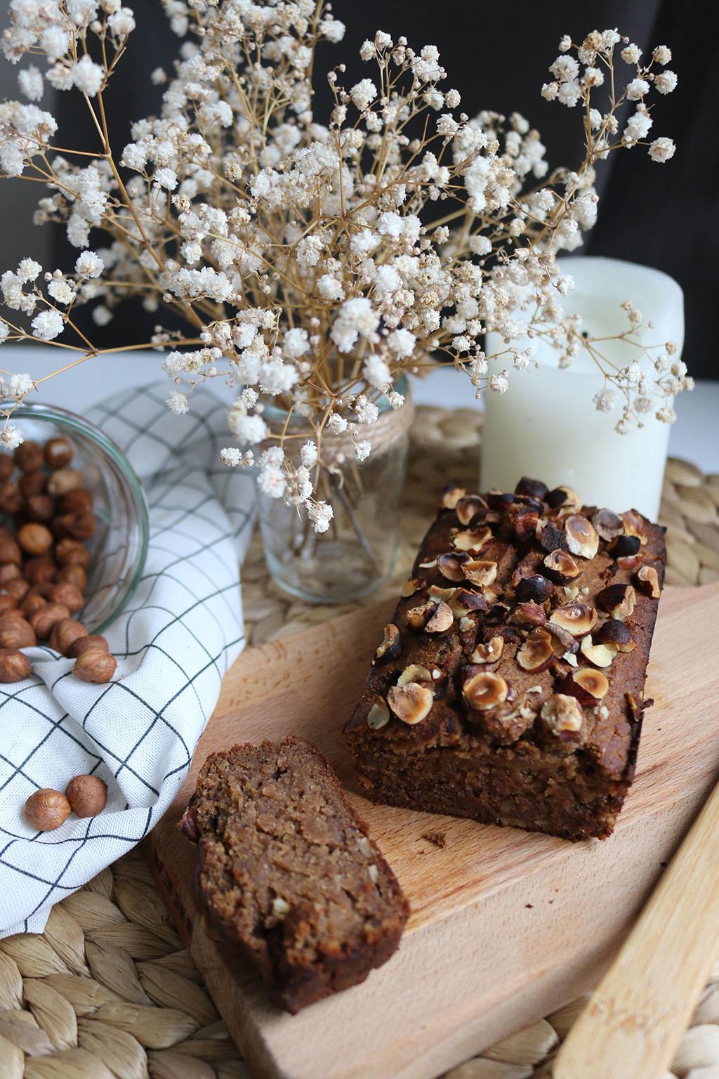 gâteau à la farine de châtaignes et noisettes