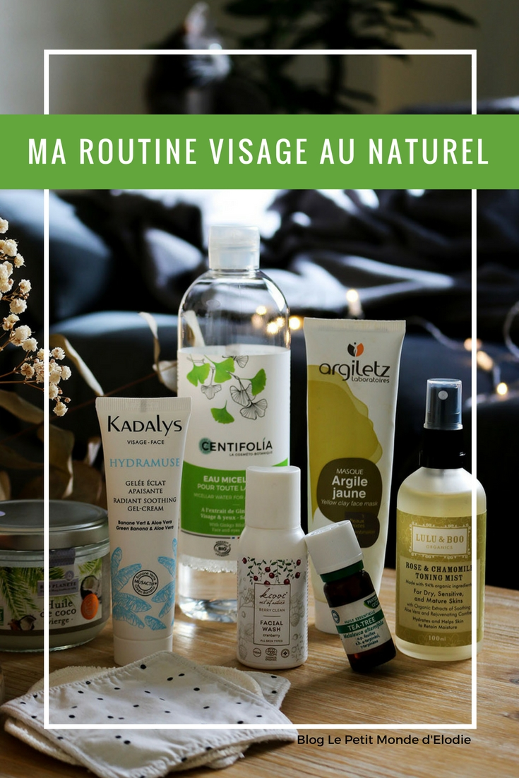 ma routine visage au naturel