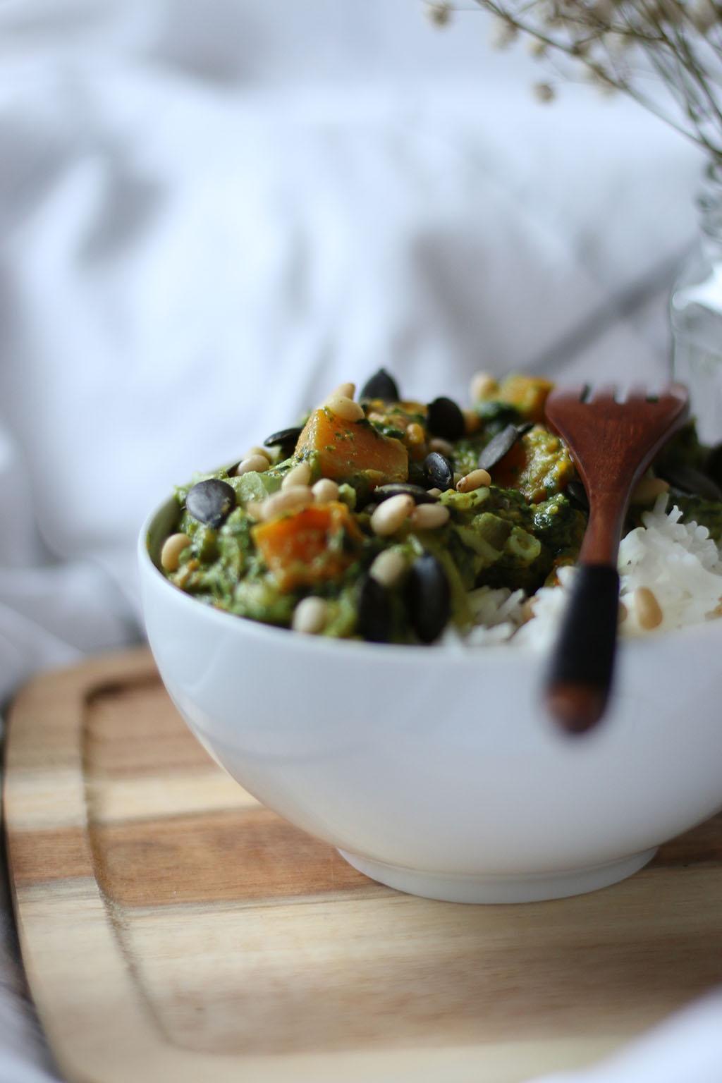 curry potiron epinards lait de coco lepetitmondedelodie