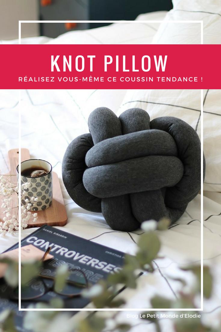 knot pillow diy tuto