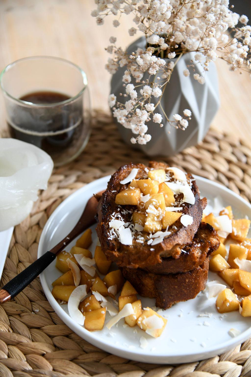 pain perdu au caramel de coco par lepetitmondedelodie