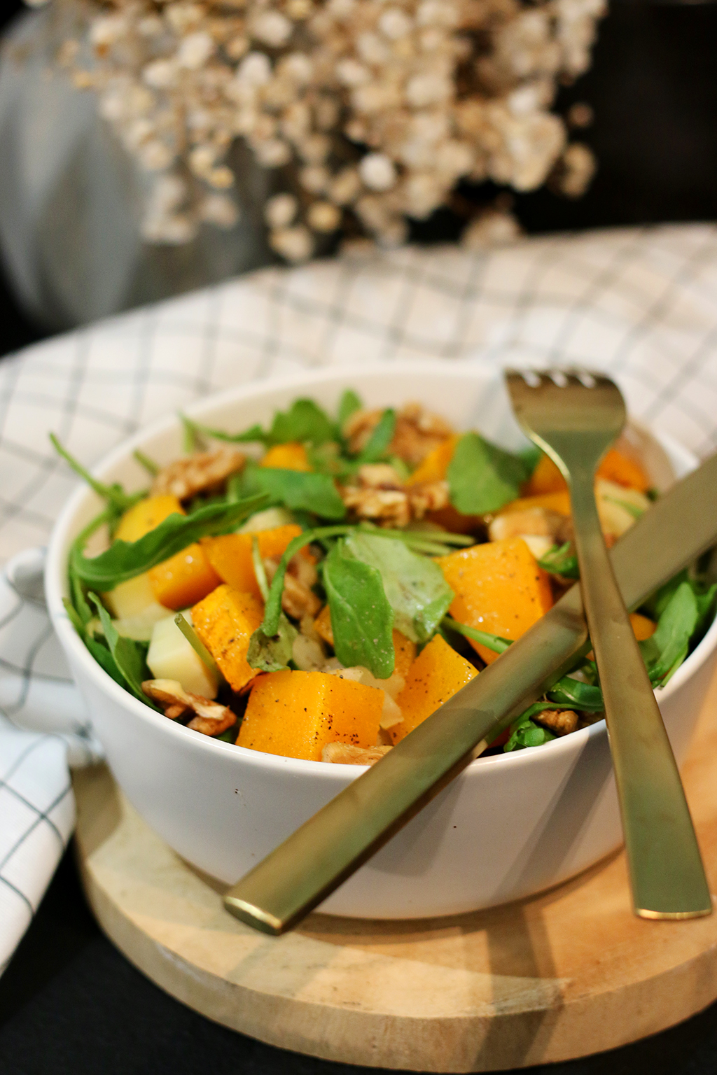 salade courge butternut et tomme