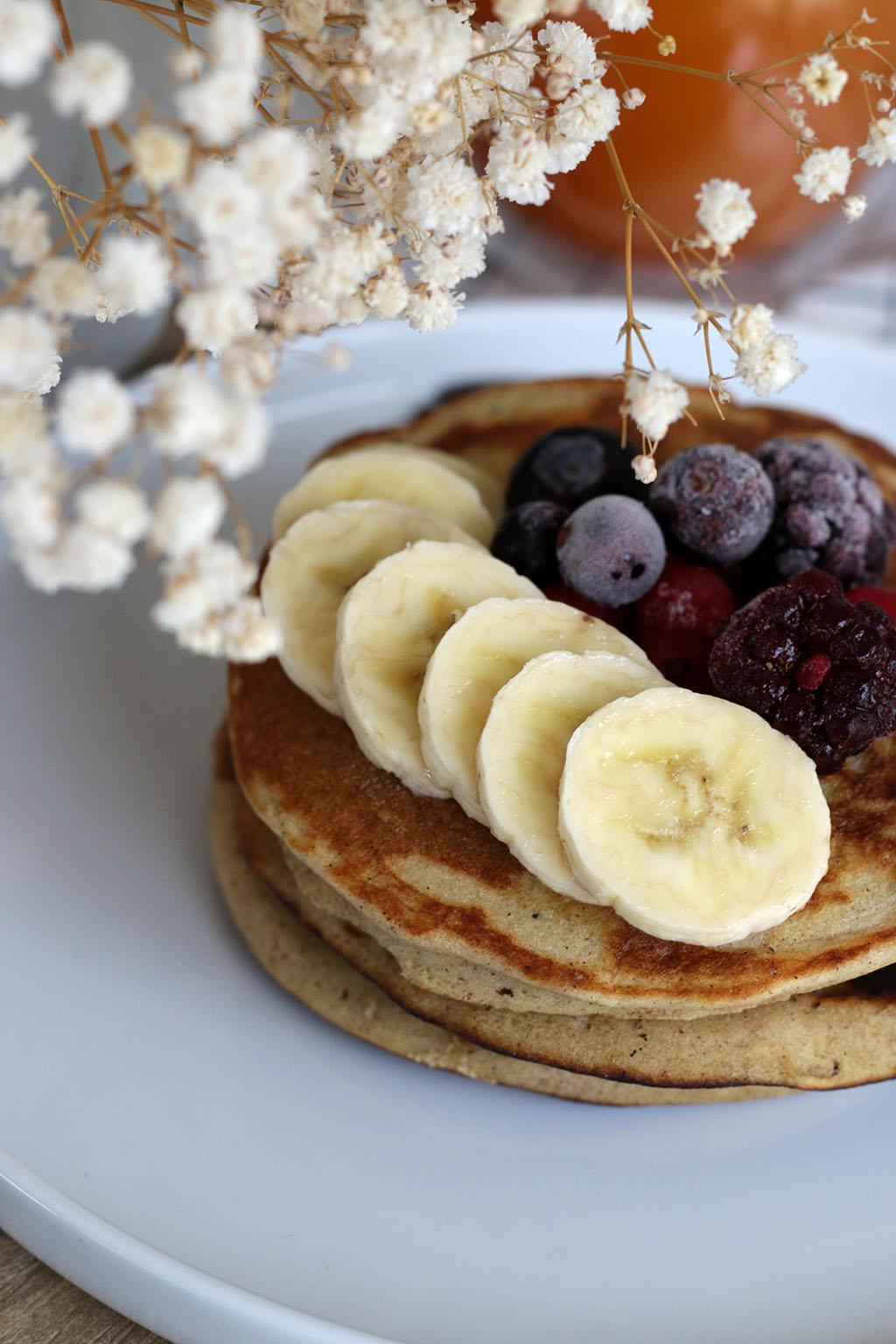 pancakes à la farine de sorgho