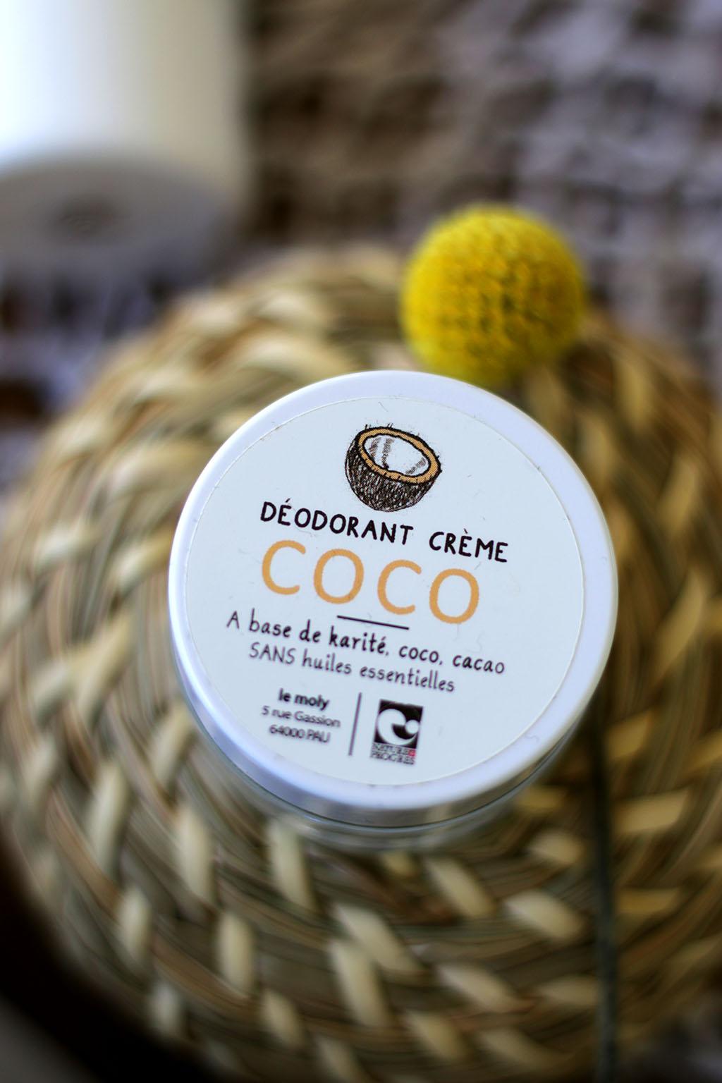 déodorant naturel coco le moly