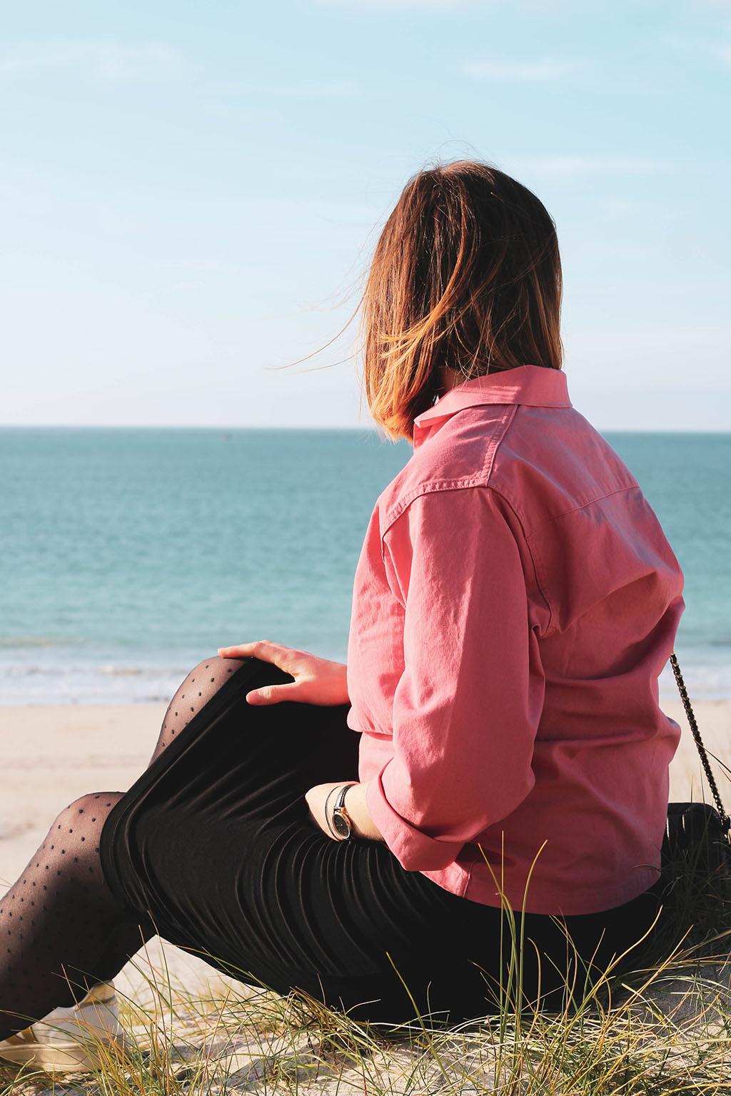 vareuse rose à la mer