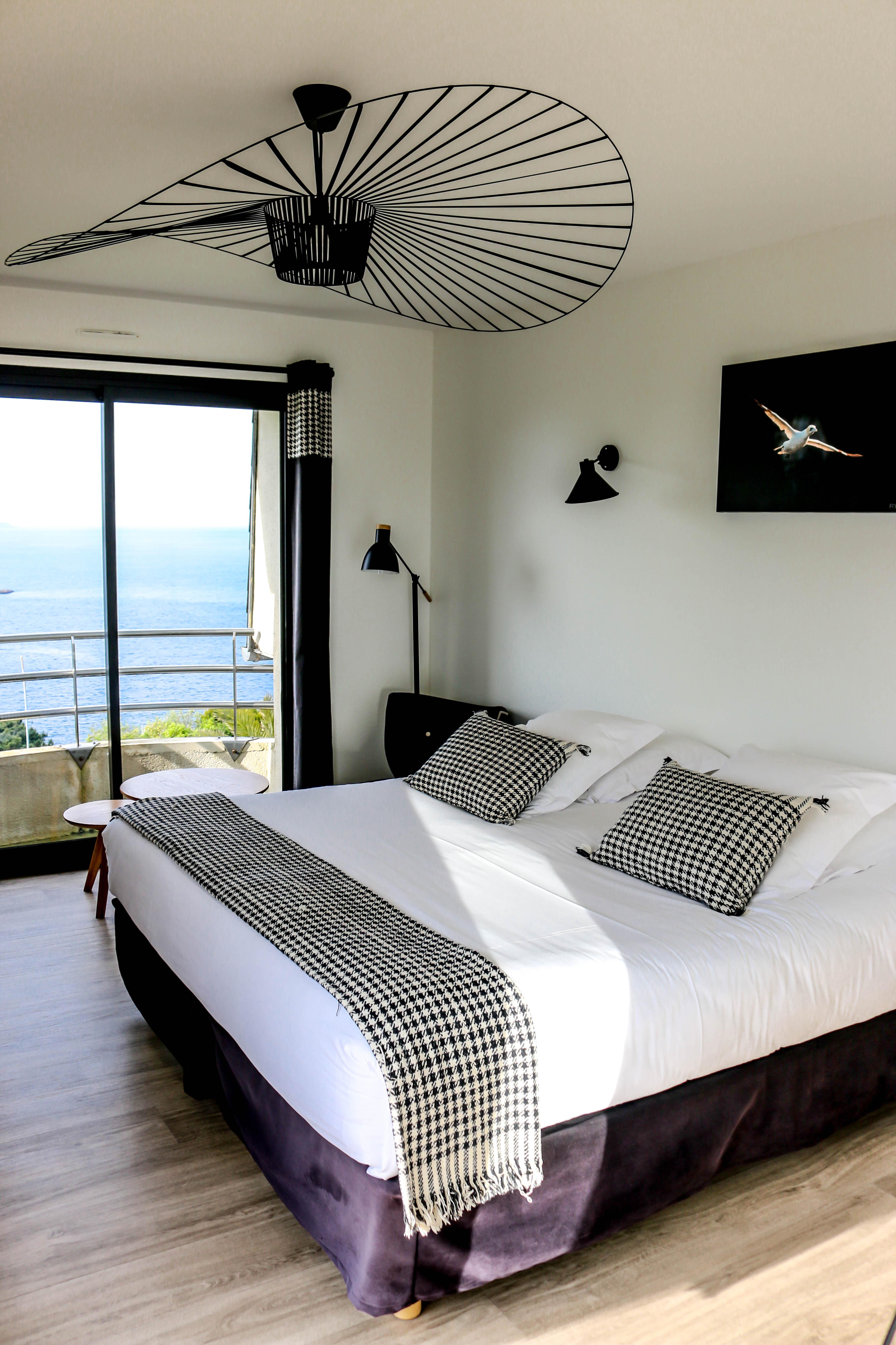 chambre vue sur mer à la villa des hydrangéas
