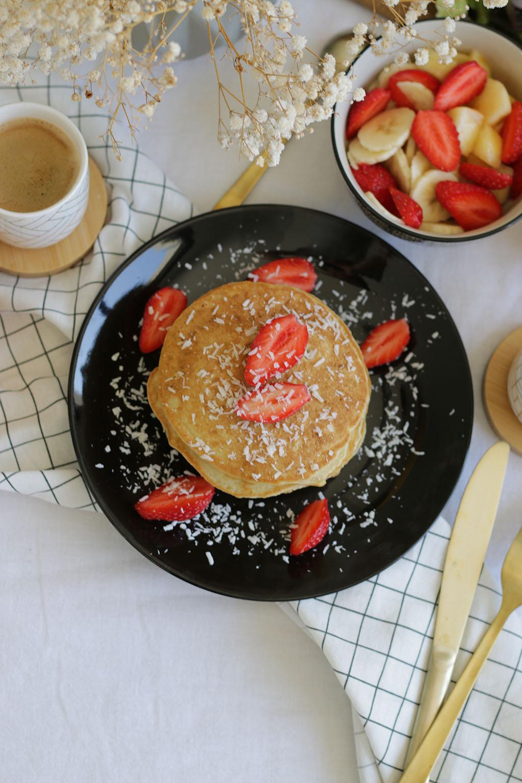 pancakes à la farine de noix de coco