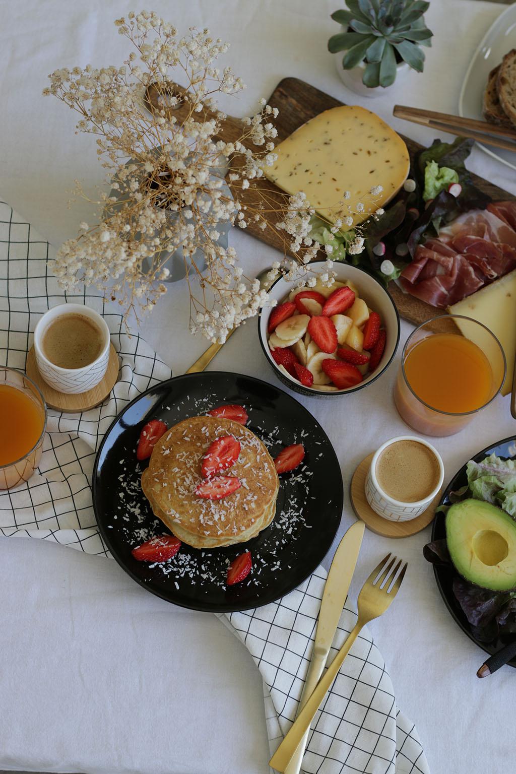 recette des pancakes à la farine de coco