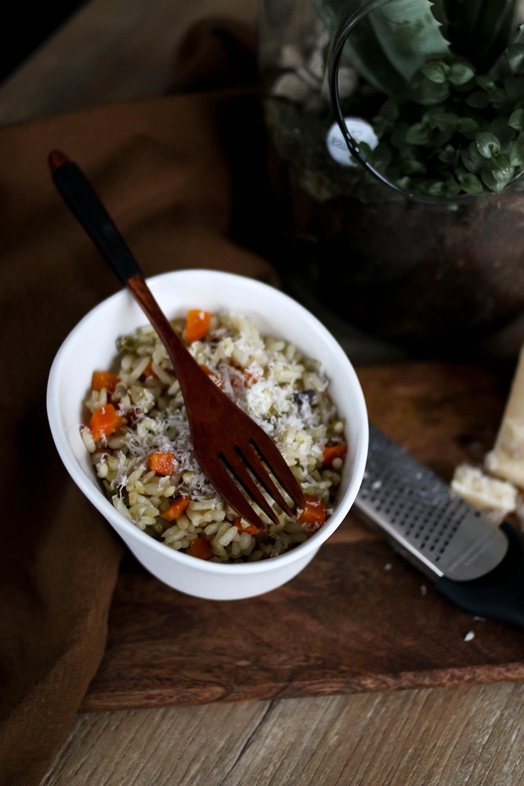 risotto aux petits légumes facile et rapide
