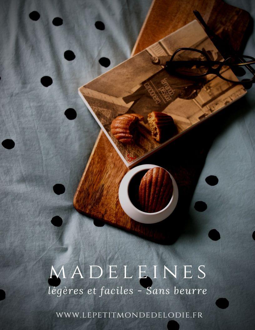 madeleines légères et faciles pour pinterest