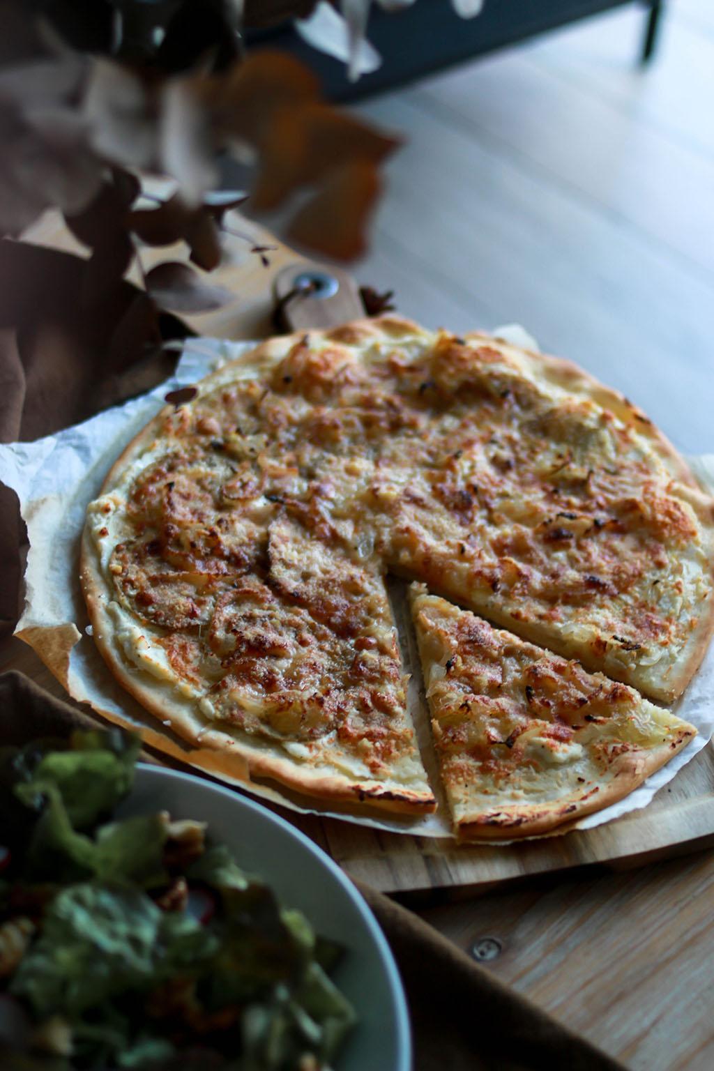 pizza végétarienne aubergine et parmesan