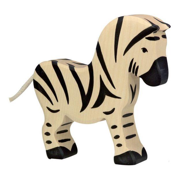 figurine bois zebre