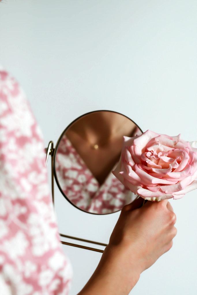 collier prima rosa en or