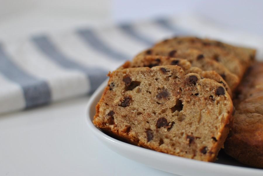 banana bread aux pépites de chocolat recette healthy lepetitmondedelodie le petit monde d'elodie food