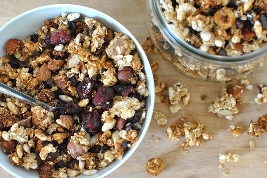 Recette healthy vegan granola croustillant chocolat miel