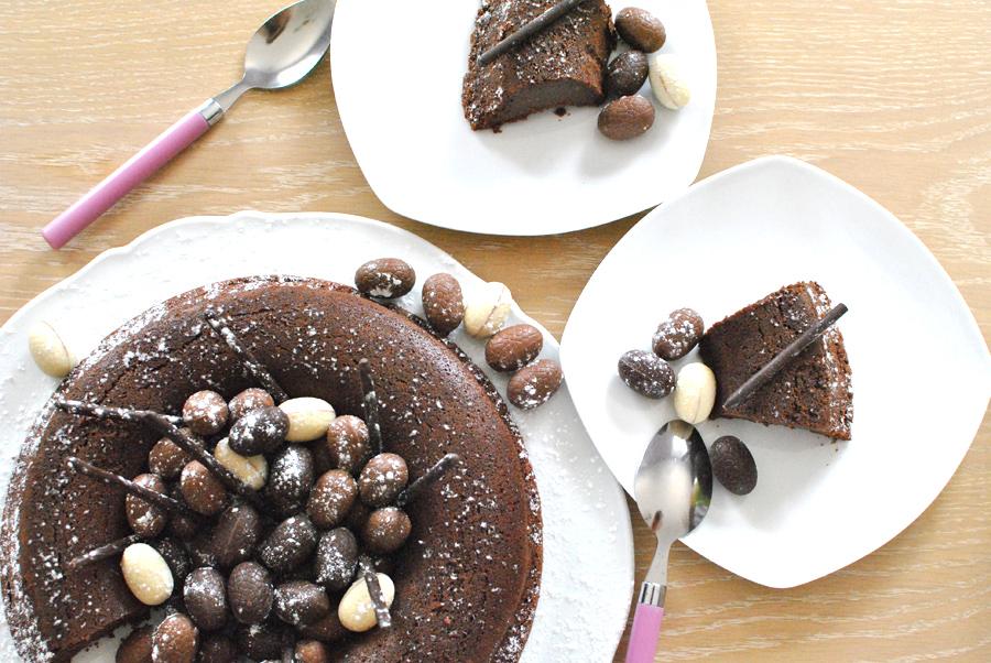 recette gâteau chocolat sans beurre desser nid de pâques