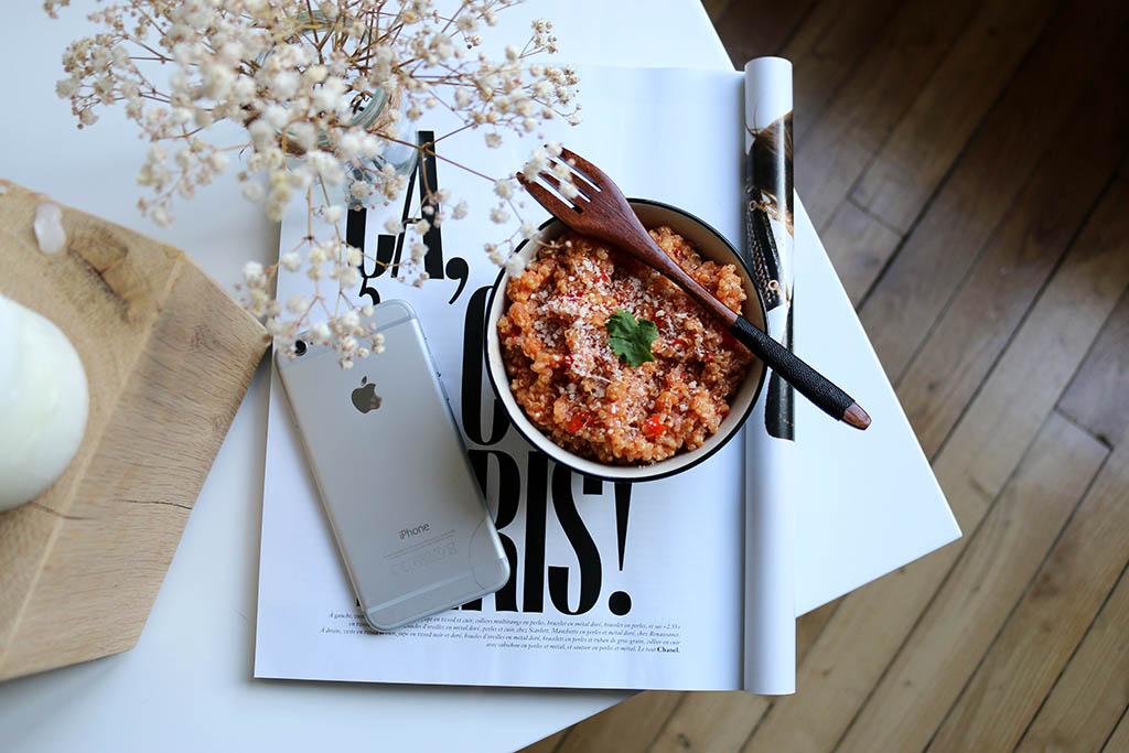 quisotto à la provençale, un risotto au quinoa, recette par le petit monde d'elodie