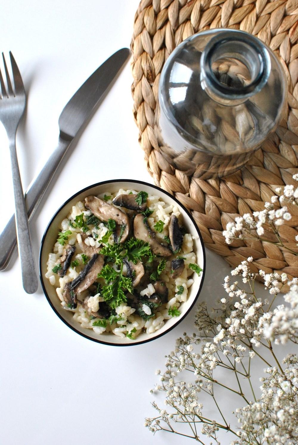risotto aux champignons et persil le petit monde d'elodie food recettes