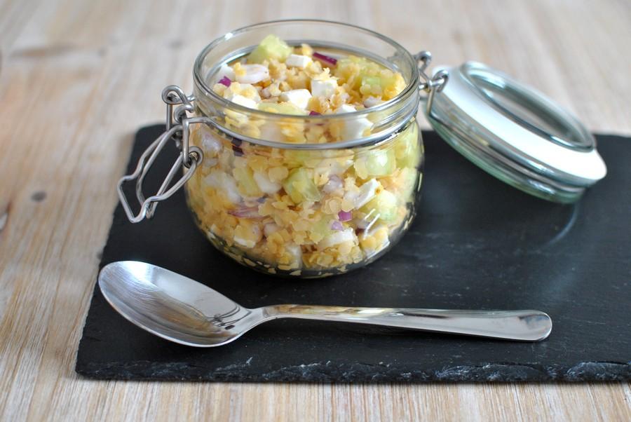 salade fraicheur de lentilles corail recettes d'été le petit monde d'elodie recettes healthy salade composée