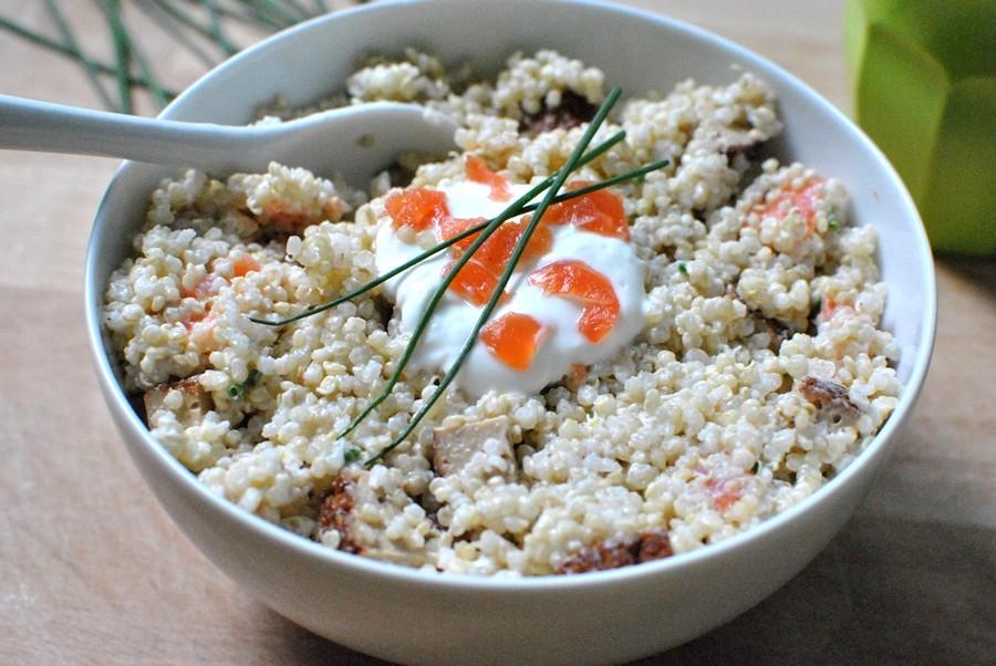 salade de quinoa au saumon fumé et tofu recette healthy le petit monde d'elodie