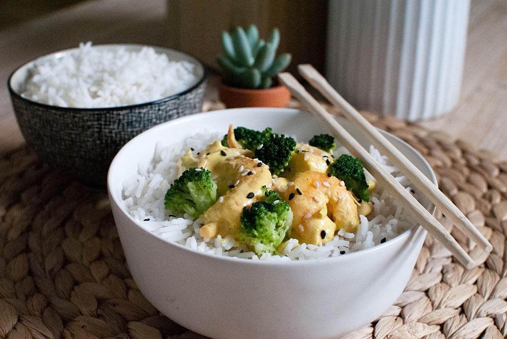 curry de crevettes lait de coco légumes recette healthy végétarienne le petit monde d'elodie