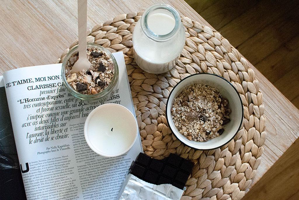 granola maison chocolat noix de coco recette food recipe healthy petit déjeuner breakfast le petit monde d'elodie