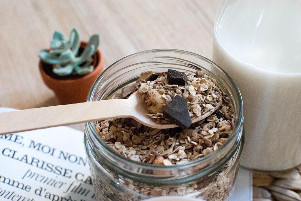 granola maison chocolat noix de coco recette recipe food healthy le petit monde d'elodie