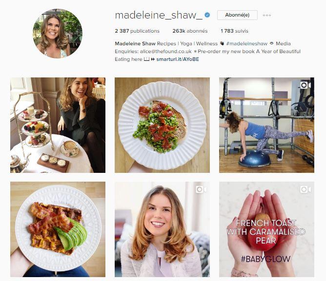 healthy food instagram le petit monde d'elodie compte madeleine shaw