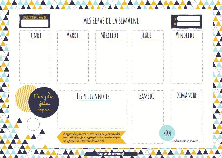 Comment planifier ses menus pour la semaine