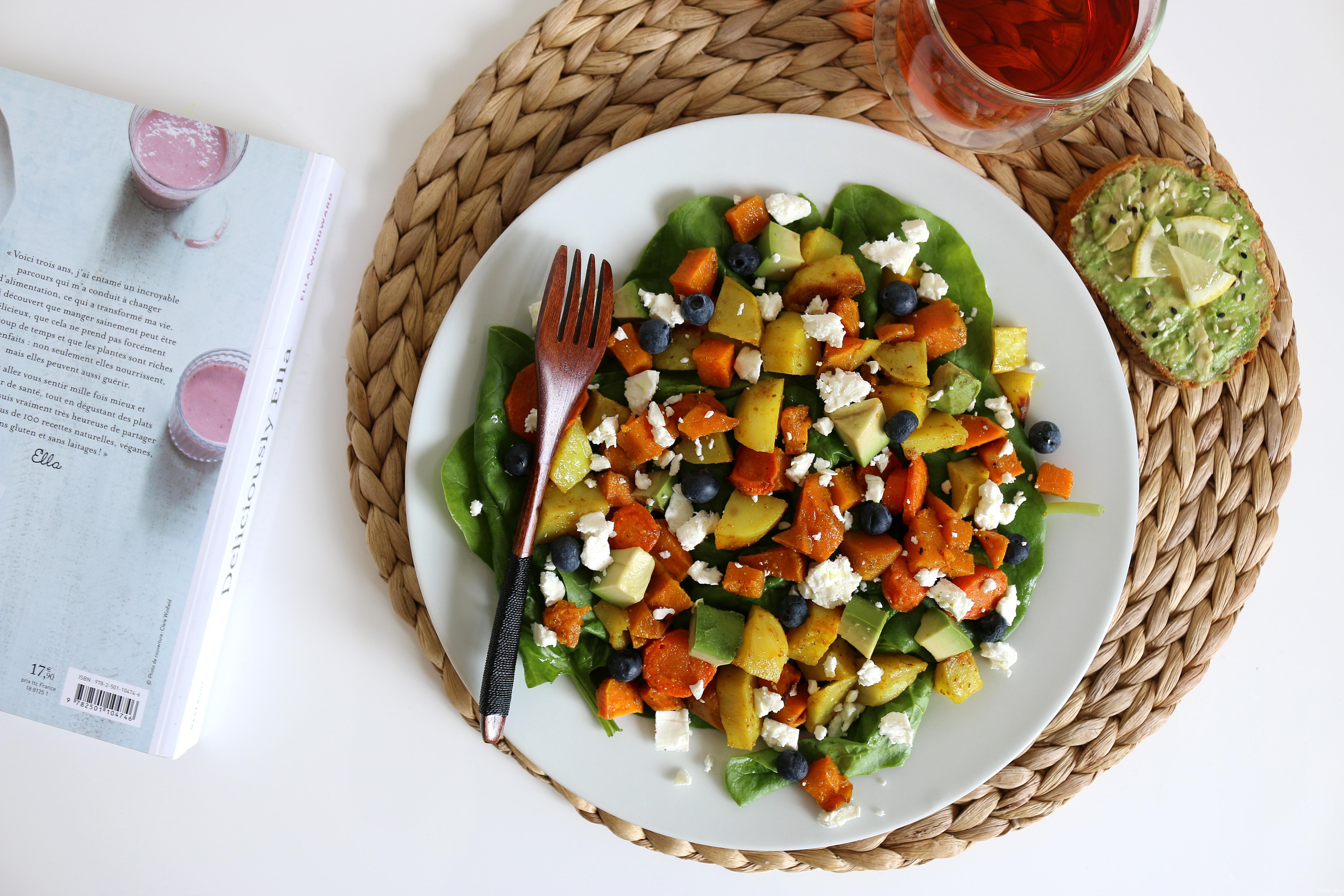 salade patates douces myrtilles
