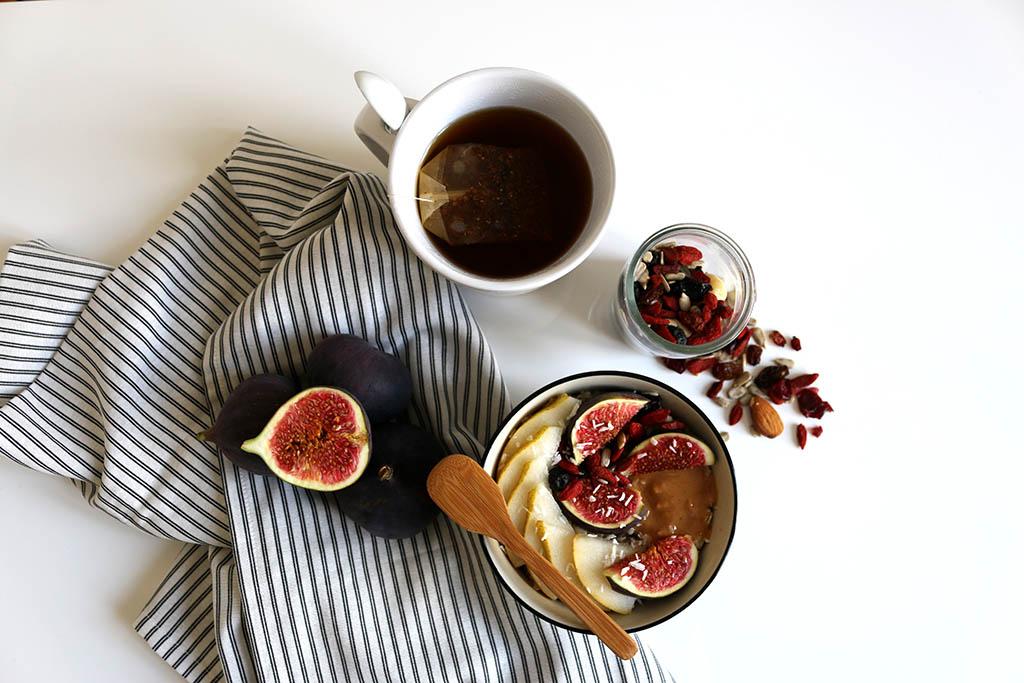 porridge figues aux saveurs d'automne petit-déjeuner healthy par le petit monde d'elodie