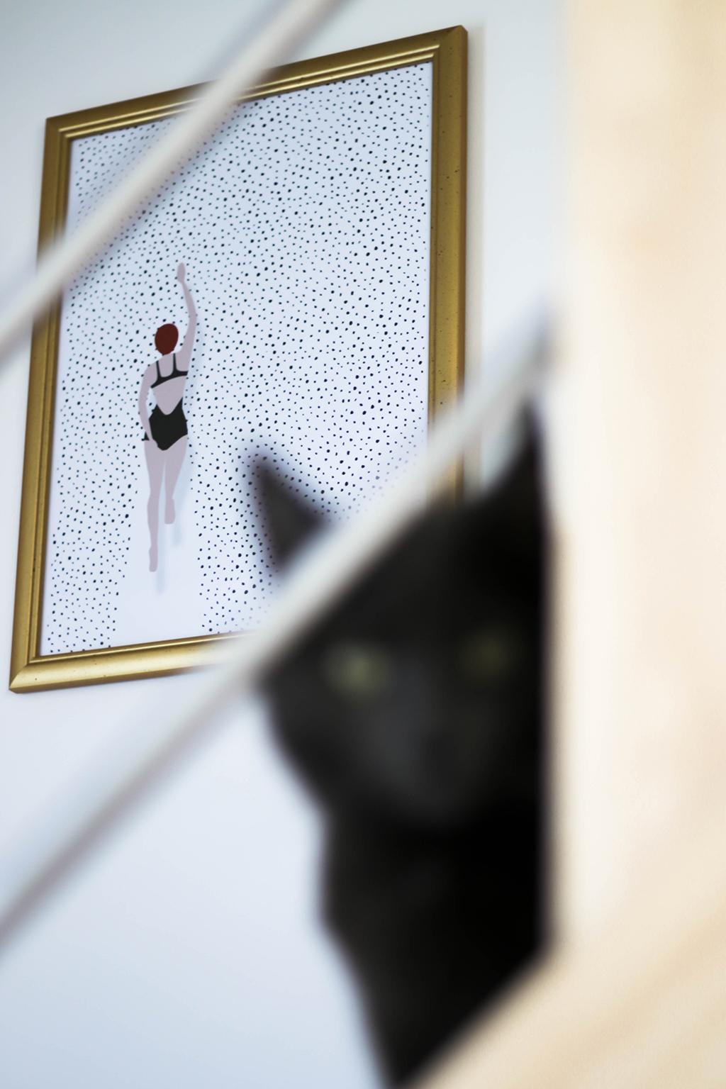 cadre dans un escalier