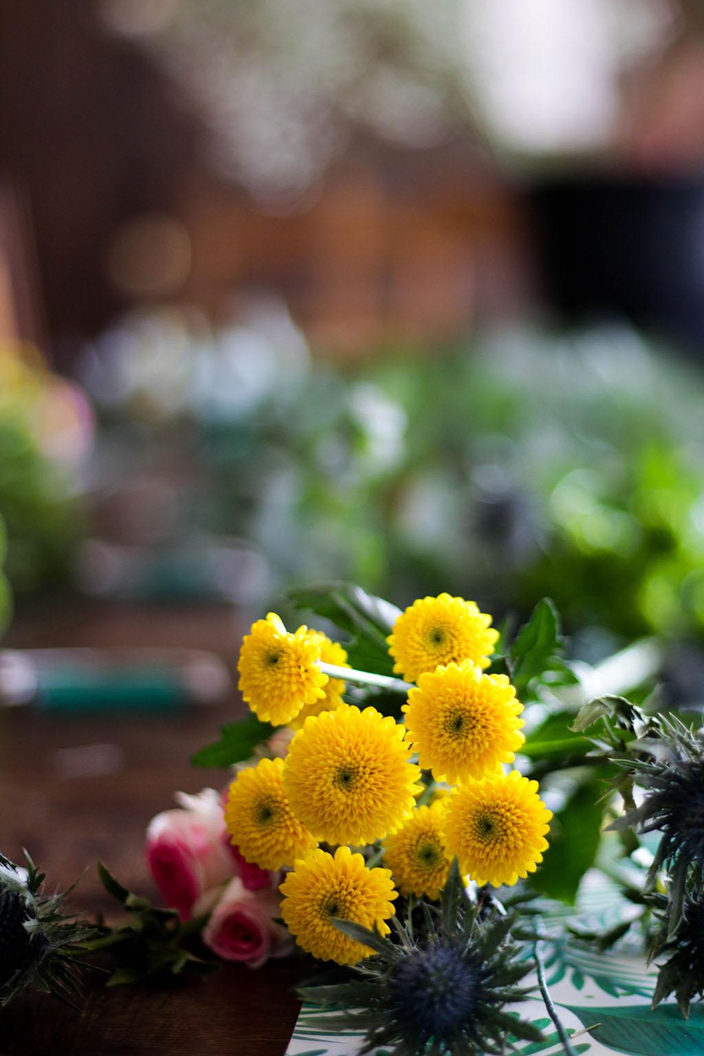fleurs pour atelier couronne