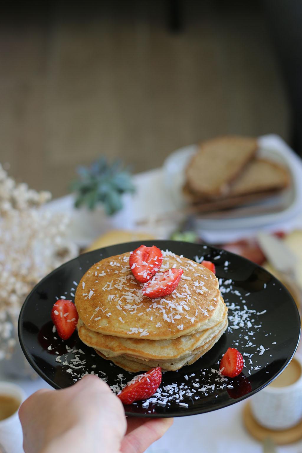 pancakes healthy à la farine de coco