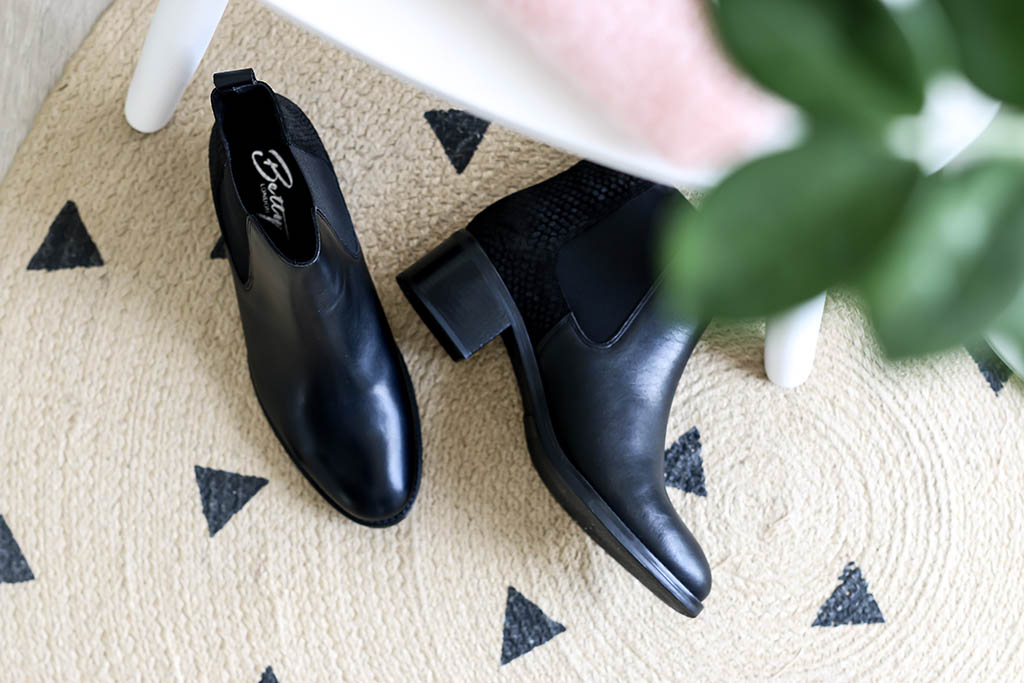 bottines noires spartoo