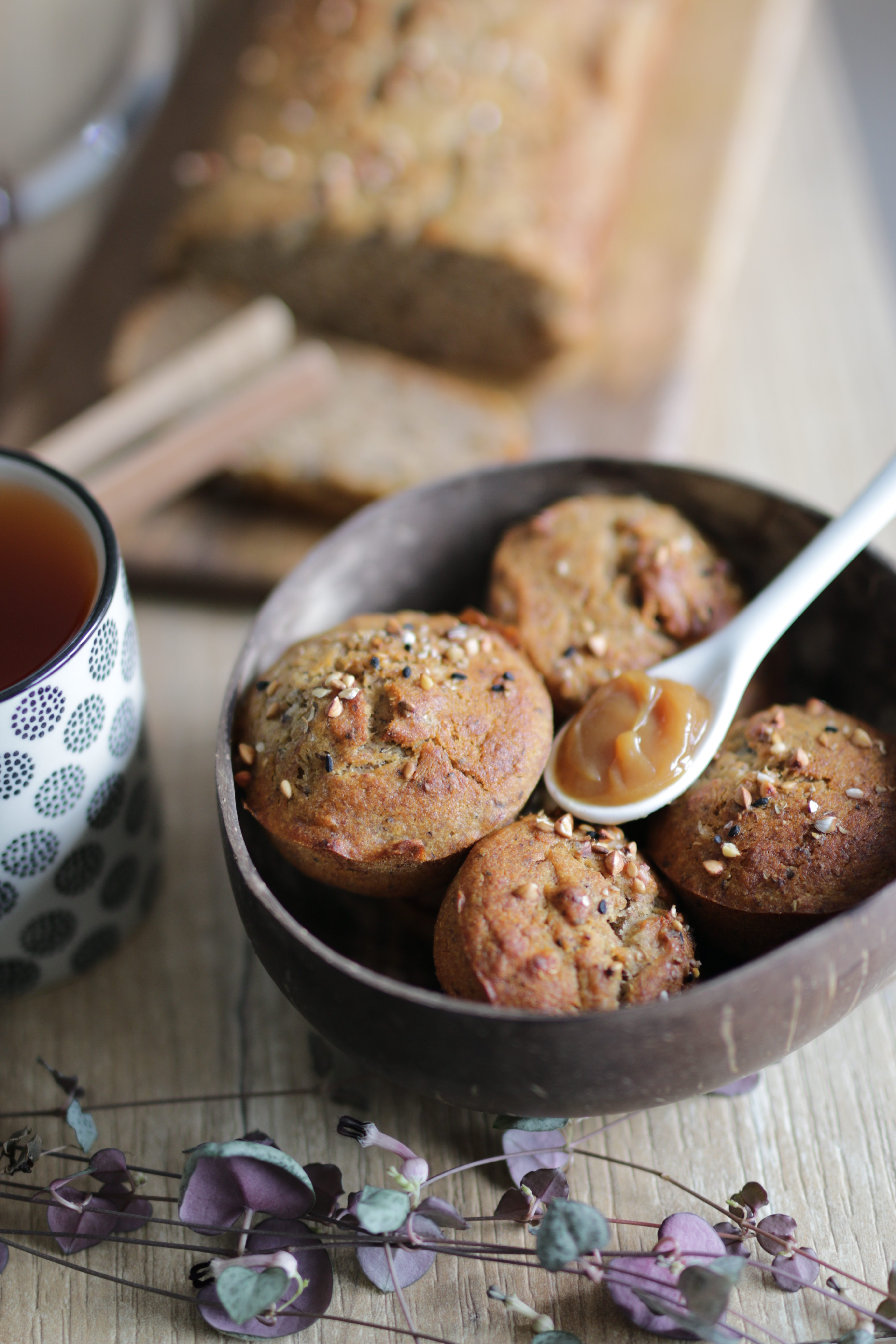 banana bread au sarrasin version muffins