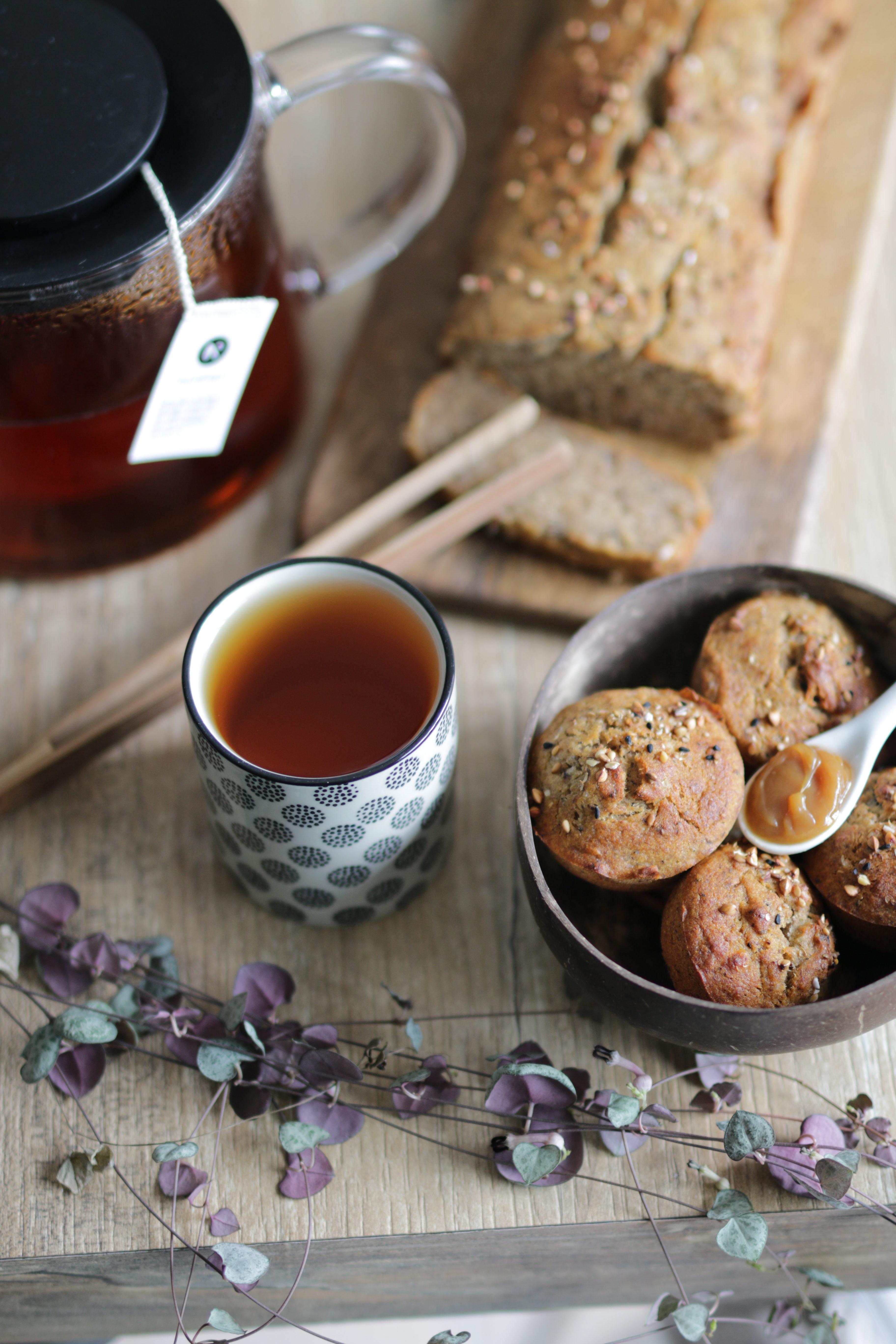 tea time avec un banana bread au sarrasin