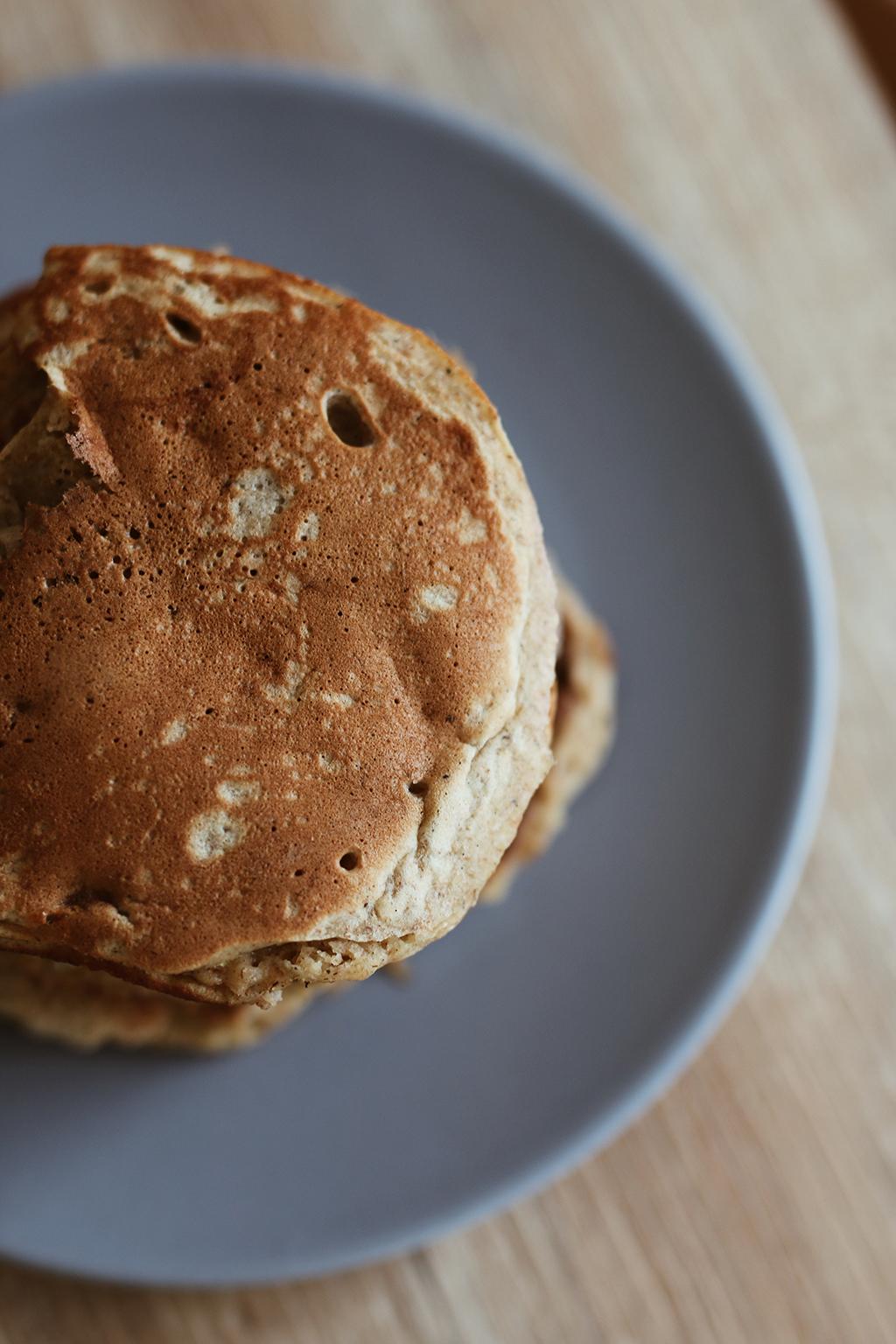 pancakes vue de haut