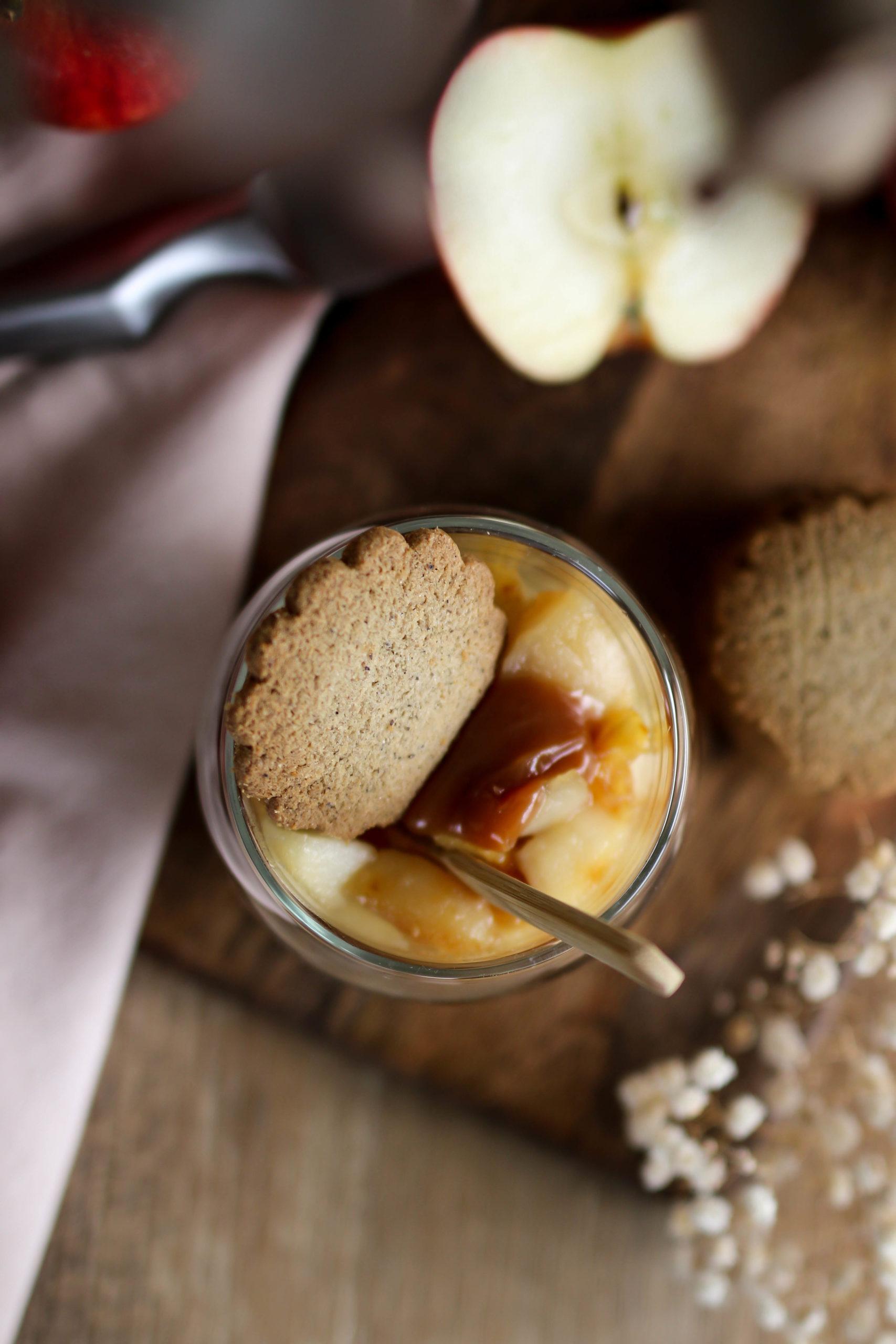 crumble aux pommes et caramel