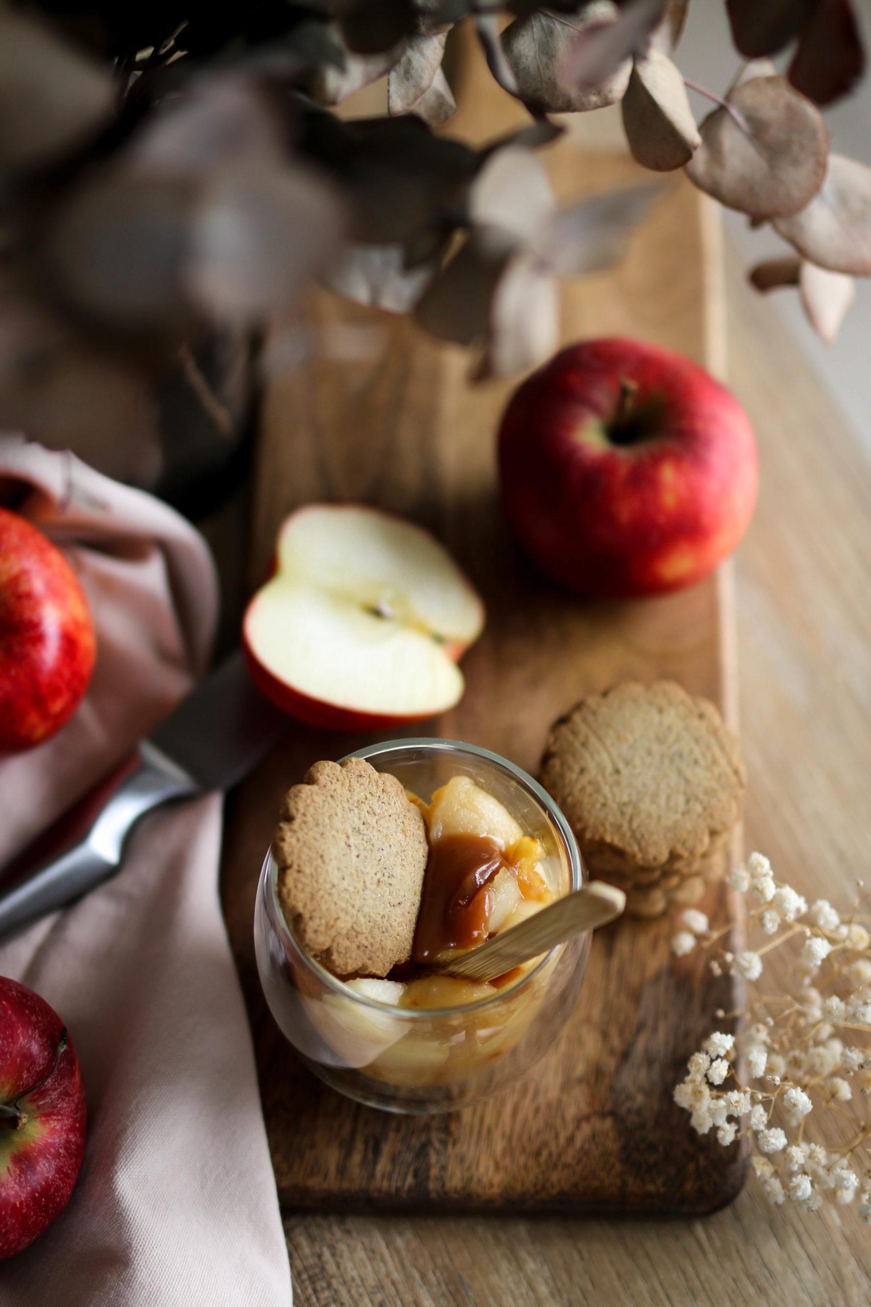 crumble breton pommes et caramel