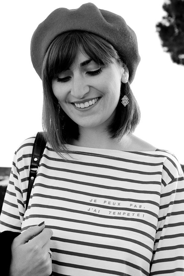 portrait en noir et blanc pour le blog lifestyle lepetitmondedelodie