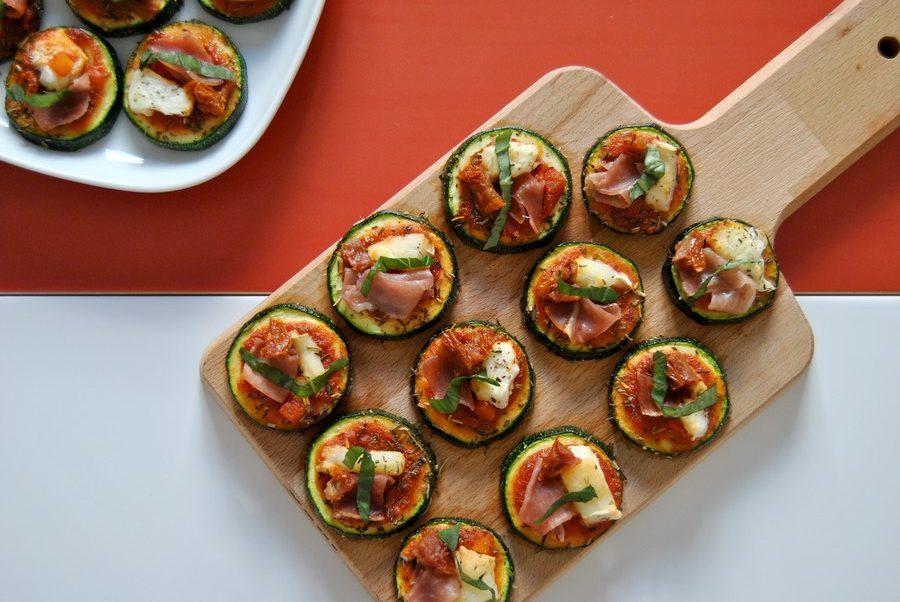 mini pizza de courgette le petit monde d'elodie recette recettes allégées light healthy